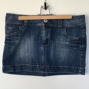 SMART SET Blue Dark Wash Denim Mini Skirt M